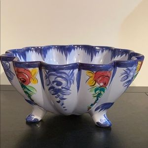 Vintage Portugal Hand-Painted Bowl